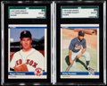 Baseball Cards:Lots, 1984 Fleer Update Roger Clemens and Kirby Puckett SGC Graded Pair (2).. ...