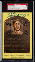 Autographs:Sports Cards, Signed Joe DiMaggio Hall of Fame Plaque Postcard SGC Authentic. ...