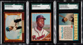 Baseball Cards:Lots, 1955 - 1962 Hank Aaron, Mickey Mantle & Willie Mays SGC-Gr...