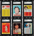 Baseball Cards:Lots, 1958-69 Topps/Post Cereal Mickey Mantle SGC Graded Collection (6).....