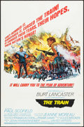 "Movie Posters:War, The Train (United Artists, 1965). Folded, Fine/Very Fine. One Sheet (27"" X 41""). Style B, Frank McCarthy Artwork. War.. ..."
