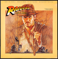 "Raiders of the Lost Ark (Paramount, 1981). Soundtrack Album Poster (35.5"" X 36""). Adventure"