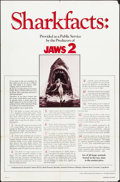 """Movie Posters:Horror, Jaws 2 (Universal, 1978). One Sheet (27"""" X 41"""") Shark Facts Style. Horror.. ..."""