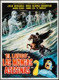 "Movie Posters:Horror, The Whip Against Murderous Mummies (Peliculas LatinoamericanasS.A., 1980). Mexican One Sheet (27"" X 37""). Horror.. ..."