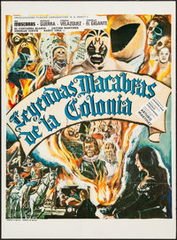"""Macabre Legends of the Colony (Filmicas Agrasanchez, 1974). Mexican One Sheet (27.5"""" X 37.5""""). Horror"""
