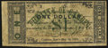 Obsoletes By State:Arkansas, Camden, AR- City of Camden $1 May 14, 1862 Rothert 92-5. ...