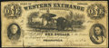Obsoletes By State:Indiana, Indianapolis, IN- Western Exchange Bank, Office in Indianapolis $1 June 15, 1856 Wolka 288-1. ...