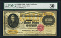 Large Size:Gold Certificates, Fr. 1225h $10,000 1900 Gold Certificate PMG Very Fine 30.. ...