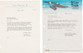 Movie/TV Memorabilia:Autographs and Signed Items, Star Trek - Gene Roddenberry Two Typed Letters Signed (1965 / 1967)....