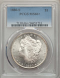 Morgan Dollars: , 1880-S $1 MS66+ PCGS. PCGS Population: (10973/2484 and 459/299+). NGC Census: (11651/3514 and 316/113+). MS66. Mintage 8,90...