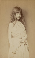 Photographs, Lewis Carroll (British, 1832-1898). Study of Alexandra 'Xie' Kitchin, 1874. Albumen. 3-7/8 x 2-3/8 inches (9.8 x 6.0 cm)...