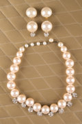 "Jewelry:Suites, A Zsa Zsa Gabor Suite of Faux Pearl Jewelry Worn on ""The Phil Donahue Show,"" 1991.. A large faux pearl necklace interspersed... (Total: 3 Items)"