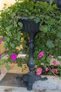 Decorative Arts, Continental, Two Cast Iron Footed Jardinières, early 20th century. 34-1/4 incheshigh (87.0 cm). ... (Total: 2 Items)