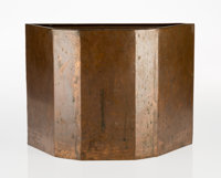 Frank Lloyd Wright (American, 1867-1959) Rare Wastepaper Basket from Price Tower, Bartlesville, Okla