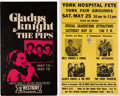 Music Memorabilia:Posters, Gladys Knight & the Pips - Two Vintage Concert Posters (CircaLate-1960s-1970s).... (Total: 2 Items)