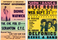 Music Memorabilia:Posters, Dionne Warwick / Delfonics - Two Vintage Concert Posters....(Total: 2 Items)
