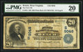National Bank Notes:West Virginia, Welch, WV - $20 1902 Plain Back Fr. 652 The First NB Ch. # (S)9048....