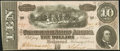 Confederate Notes:1864 Issues, T68 $10 1864 PF-14 UNL.. ...