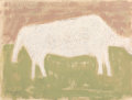 Works on Paper, Milton Avery (American, 1885-1965). Cow Grazing, 1954. Mixed media on paper. 19 x 25 inches (48.3 x 63.5 cm) (sheet). Si...