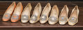 American:Academic, A Zsa Zsa Gabor Collection of Fancy Satin Heels, 1960s.. Four pairstotal including: 1) ivory-colored with rhinesto...