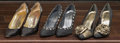 American:Academic, A Zsa Zsa Gabor Collection of Fancy High Heels, Circa 1980s.. Threepairs total including: 1) black satin with silver sequin... (Total:3 Items)