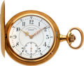 Timepieces:Pocket (post 1900), A. Lange & Söhne 18k Gold Hunter Case Watch, circa 1899. ...