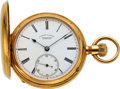 Timepieces:Pocket (post 1900), A. Lange & Söhne 18k Gold Hunters Case No. 16932, circa 1884. ...