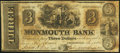 Obsoletes By State:New Jersey, Freehold, NJ - Monmouth Bank (2nd) $3 Aug. 1, 1842. ...