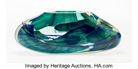 Joel Philip Myers (American, b. 1934)Continuous Fragment Vase, 1986Blown glass with applied elements8-1/4 x 20-1/2...