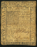 Colonial Notes:Delaware, Delaware January 1, 1776 5s Fine.. ...