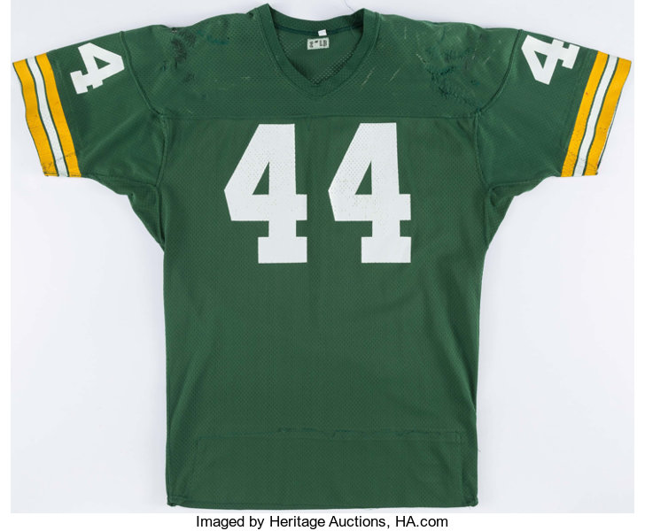 promo code 670e4 3f675 1975-1976 Charlie Hall Game Worn Green Bay Packers Jersey ...