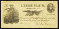 Obsoletes By State:Indiana, Michigan City, IN- Lyman Blair 20¢ July 15, 1862 Wolka 495-3. ...
