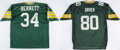 Football Collectibles:Others, Green Bay Packers Assorted Memorabilia Lot, with Undershirts Attributed to Edgar Bennett and Robert Brooks and Signed Jerseys....