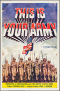"""Movie Posters:War, This is Your Army (20th Century Fox, 1954). One Sheet (27"""" X 41"""").War.. ..."""
