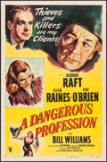 "Movie Posters:Crime, A Dangerous Profession (RKO, 1949). One Sheet (27"" X 41""). Crime....."