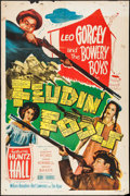 "Movie Posters:Comedy, Feudin' Fools (Monogram, 1952). Folded, Fine+. One Sheet (27"" X41""). Comedy.. ..."