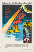 "Movie Posters:Science Fiction, From the Earth to the Moon (Warner Brothers, 1958). One Sheet (27""X 41""). Science Fiction.. ..."