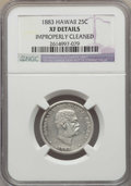 Coins of Hawaii , 1883 25C Hawaii Quarter -- Improperly Cleaned -- Details NGC. XF. NGC Census: (32/1297). PCGS Population: (71/1935). CDN: $...