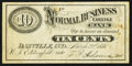 Obsoletes By State:Indiana, Danville, IN- Normal Business College Bank 10¢ Mar. 22, 1880. ...