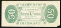 Obsoletes By State:Indiana, La Porte, IN- J.F. Decker & Sons 50¢ ND (ca. 1875). ...