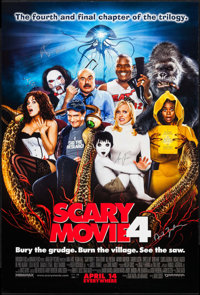 """Scary Movie 4 & Other Lot (Dimension, 2006). Autographed One Sheets (2) (27"""" X 40"""") SS Advance. Comedy..."""