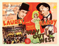 "Movie Posters:Comedy, Way Out West (MGM, 1937). Half Sheet (22"" X 28"").. ..."