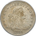 Early Half Dollars, 1807 50C Draped Bust, O-103a, T-11, R.3, AU55 PCGS Secure....