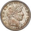Barber Half Dollars, 1908 50C MS66 PCGS Secure....