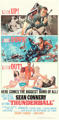 "Thunderball (United Artists, 1965). Three Sheet (41.5"" X 83.5"") Frank McCarthy with Robert McGinnis Artwork..."
