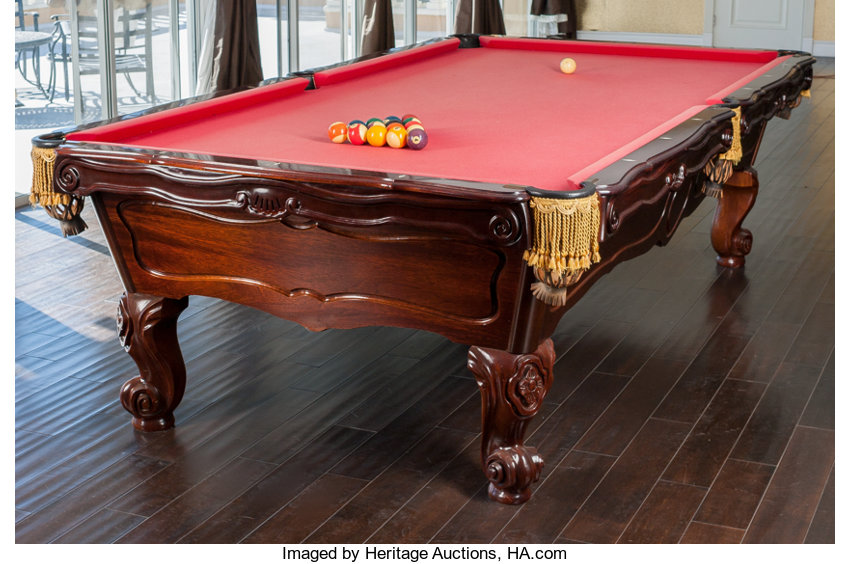 A Brunswick Orleans Pool Table With Accessories H Lot - 3 1 2 x 7 pool table