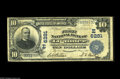 National Bank Notes:Pennsylvania, Ligonier, PA - $10 1902 Plain Back Fr. 624 The First NB Ch. #(E)6281 A just plain rare Westmoreland County bank with j...