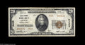 National Bank Notes:Pennsylvania, Lititz, PA - $20 1929 Ty. 2 Lititz Springs NB Ch. # 9422 Only 516 of this type and denomination were printed. This is ...