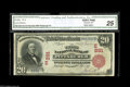 National Bank Notes:Pennsylvania, Pittsburgh, PA - $20 1902 Red Seal Fr. 639 The Third NB Ch. # 291 One of only four Red Seals in the latest census. Thi...