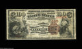 National Bank Notes:Pennsylvania, Pittsburgh, PA - $100 1882 Brown Back Fr. 520 The Farmers DepositNB Ch. # 685 A beautifully margined example of this v...